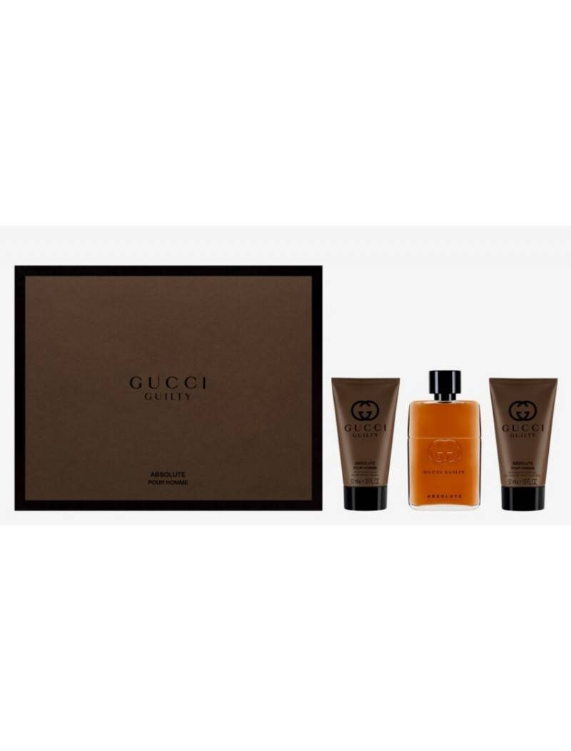 gucci guilty asbolute eau de parfum 50ml gift set. Black Bedroom Furniture Sets. Home Design Ideas