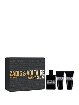 Zadig & Voltaire THIS IS HIM Eau de Toilette 50ml gift set + 2 shower gel 50 ml