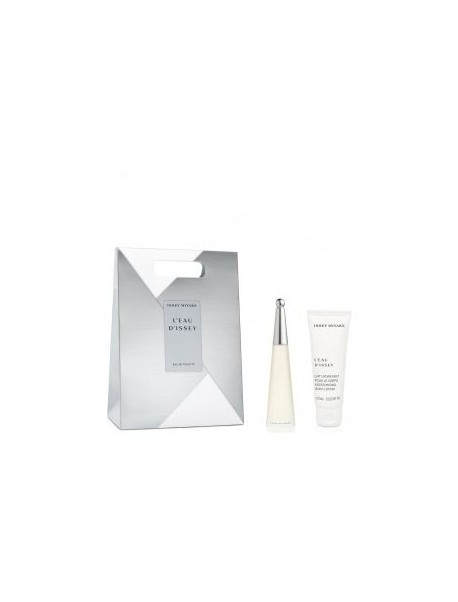Issey Miyake L'eau D'issey gift set Eau De Toilette Spray 25ml+body lotion 75m l 3423474844654