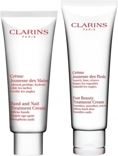 CLARINS CORPO gift set crema mani 100ml+crema piedi 125ml 3380810237153
