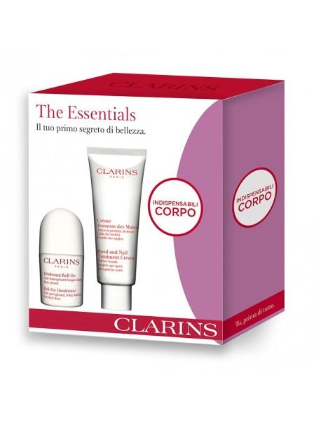 CLARINS CORPO gift set crema mani100ml+deo roll-on 3380810297867