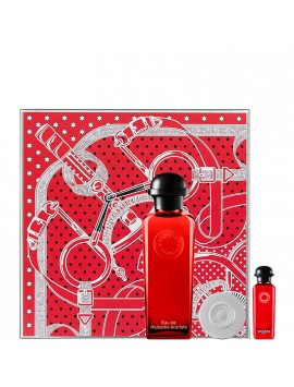 Hermès EAU DE RHUBARBE ECARLATE gift set 100+mini