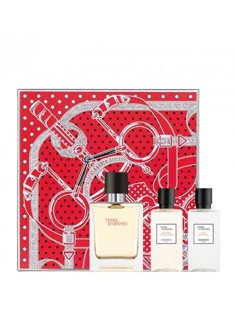 Hermès TERRE D'HERMES Gift Set edt 50sp+dc+dopob 3346131431335